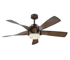 elegant 5 wings ceiling fans with lights by kichler