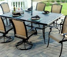 elegant agio patio furniture with black metal framed