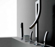 elegant black glass bathroom faucets