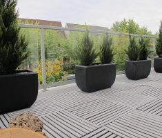elegant black modern garden pots for outdoor rooms