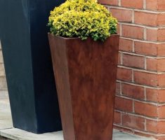 elegant brown modern garden pots tall design