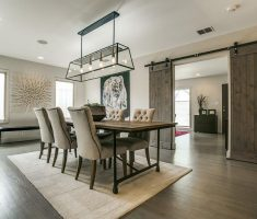 elegant farmhouse dining table modern with chairs mid back