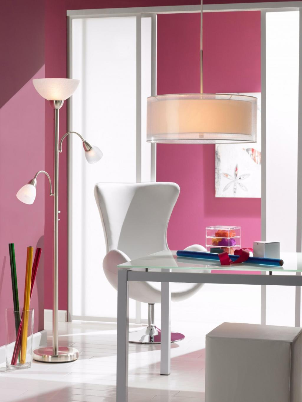 Elegant feminime floor light shade designs for home office