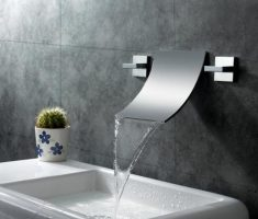 elegant modern bathroom wall faucets