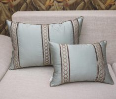elegant silver throw pillow covers design for grey sofa