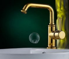 elegant simple gold bathroom faucets
