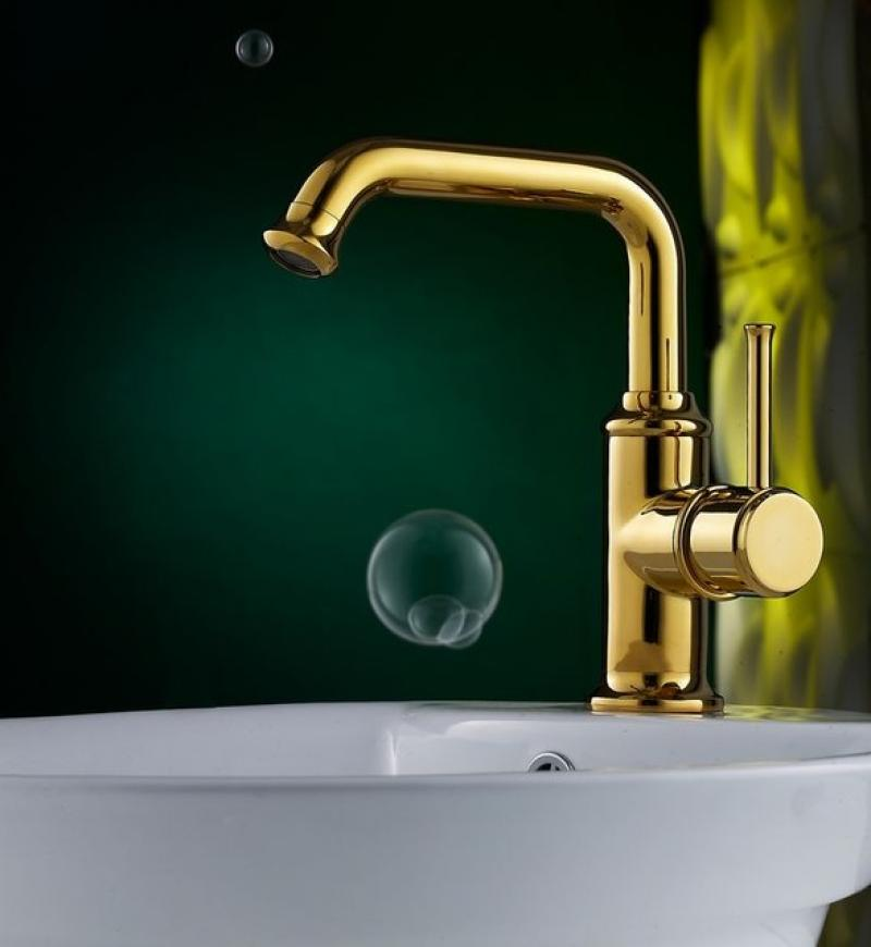 Simple Elegant Bathroom Designs: Elegant-simple-gold-bathroom-faucets