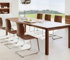 elegant wooden modern chair design and table