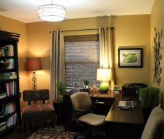 enchanint chandelier and table light shade designs for small home office corner space