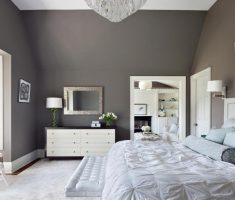 enchanting bedroom with grey wall for master bedrooms decoration