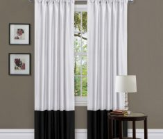 enchanting black and white curtain for modern window treatments