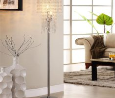 enchanting crystal and metal floor and table lamps for living room decor