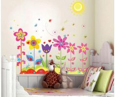enchanting cute flowers and butterfily for kid for removable wall decals inspirations