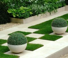 enchanting modern garden pots with rounded shapes so cute