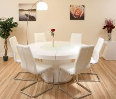 enchanting round white dining table and 6 chairs