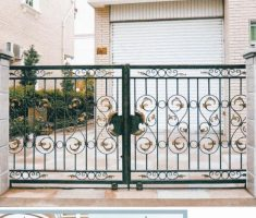 enchanting sliding fence for modern small front gate designs