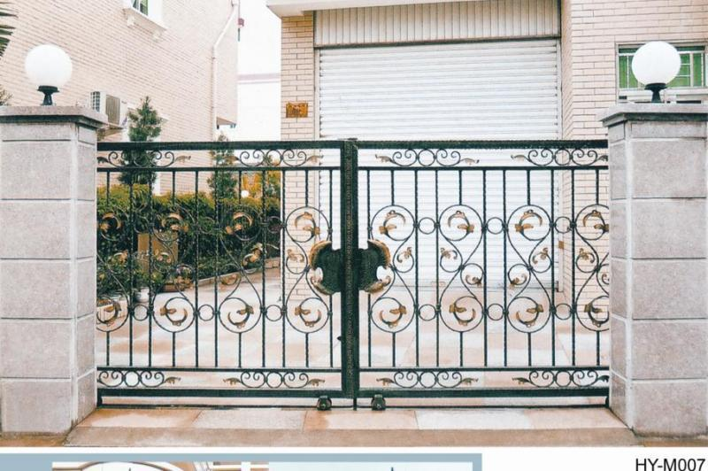 Enchanting sliding fence for modern small front gate designs for Modern front gate design
