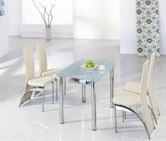 enchanting small glass white dining table and ivory white 4 chairs