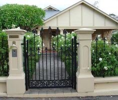 enchanting small metal black front gate designs for small house