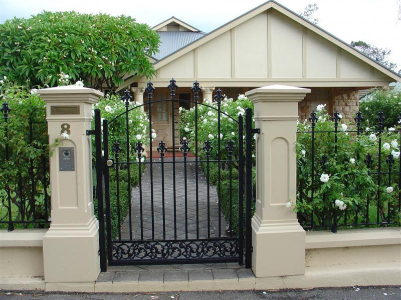 Enchanting Small Metal Black Front Gate Designs For Small