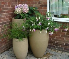 enchanting tall modern garden pots for corner space