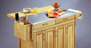 enchanting-wooden-kitchen-island-cart-with-wheels