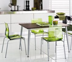 enchating green plastic modern chair design