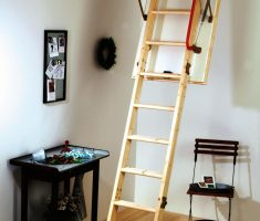 ergonomic pull down attic stairs
