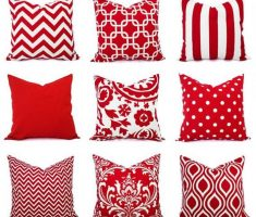 example of red throw pillow covers design decoration