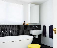 fabulous black and white small bathroom tiles