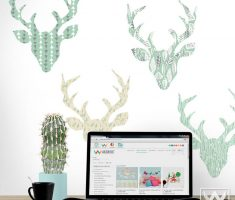 fabulous deers head for removable wall decals inspirations