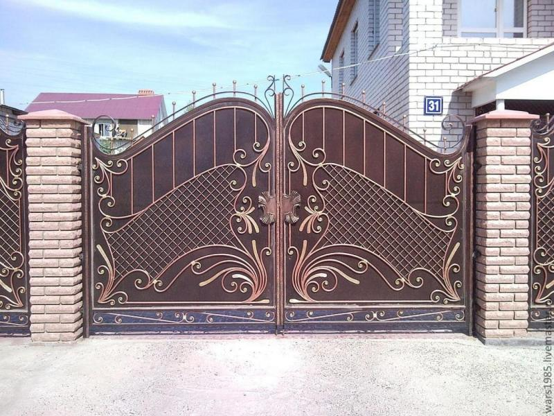 fabulous design for front gate designs with floral - Home Front Gate Designs