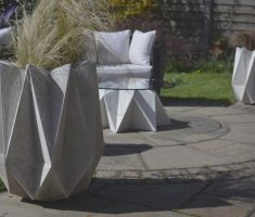 fabulous futuristic modern garden pots for outdoor planter