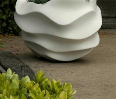 fabulous modern garden pots planter with unique wave design
