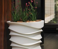 fabulous modern garden pots with unique design