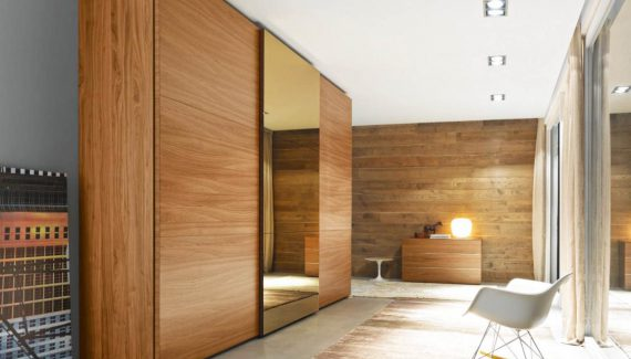fabulous-modern-sliding-closet-doors-wooden-materials-with-glass-mirror