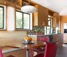 fabulous modern window treatments on kitchen