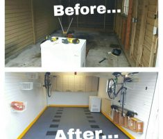 fabulous small epoxy garage floor before after diy