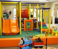 fancy kids indoor playground with sliding