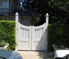 fancy white wooden small front gate designs for small house