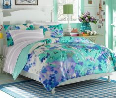 floral blue girls bedroom furniture