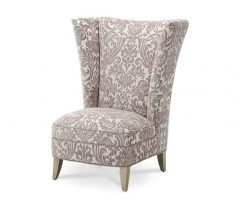 floral decorate high back chair