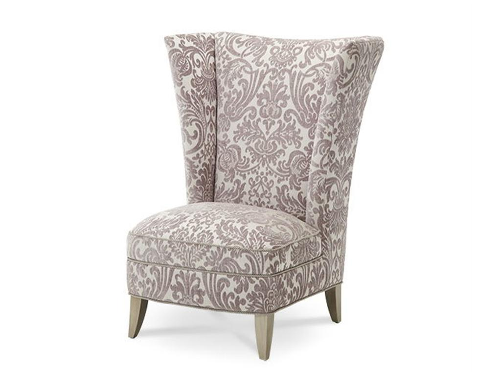 Floral Decorate High Back Chair Home Inspiring