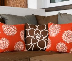 flowers throw pillow covers design for brown couch sofa