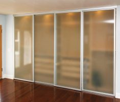 four sides sliding closet doors with glass materials