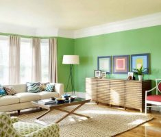 fresh green lime paint colors for living room for small space