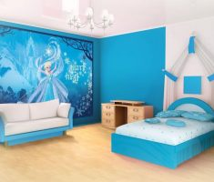frozen elsa wallpaper for disney princess bedroom decor