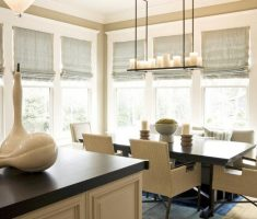 full kitchen modern window treatments with roll sliding curtain