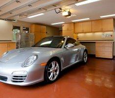 garage floor cover coating with porsche