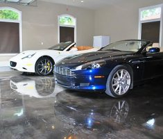 garage floor cover coating with supercar